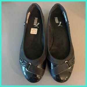 Puma Slip-On Black Ballet Flats US sz 7.5